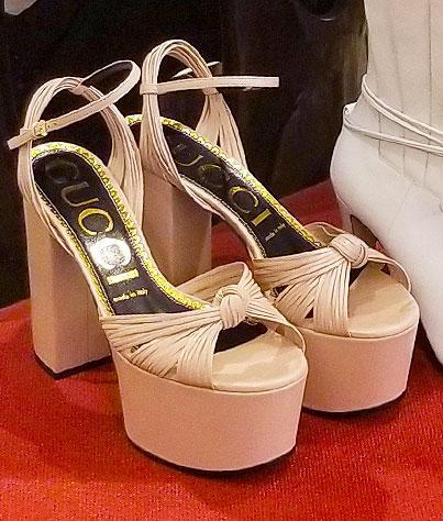 Gucci platform heels