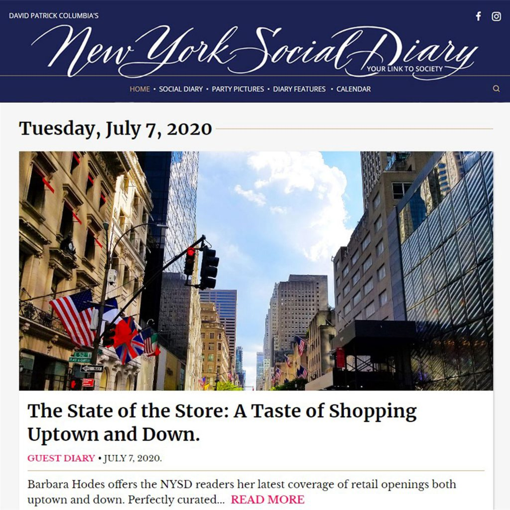 New York Social Diary Column by Barbara Hodes