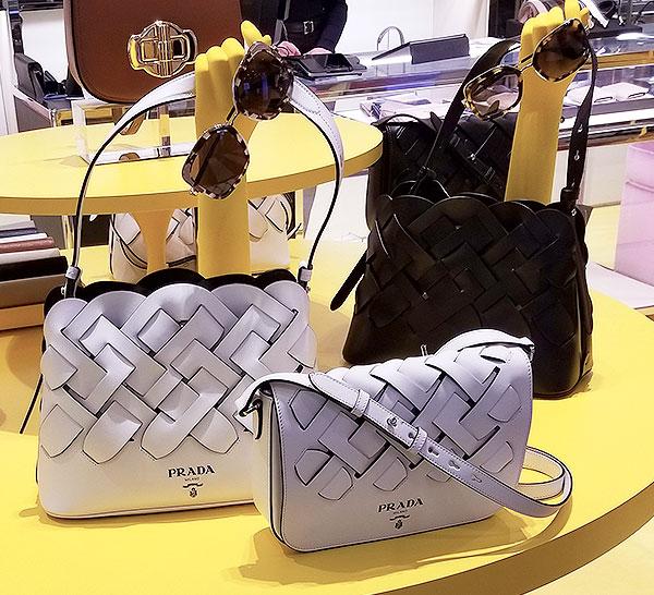 Prada Woven leather Spring shoulder Bag
