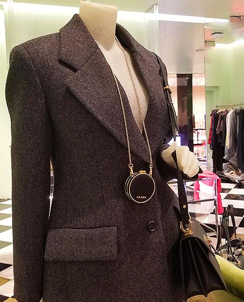 Necklace bag from Prada