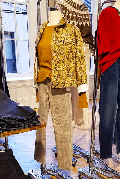 A snake print jean jacket for sale in NYC