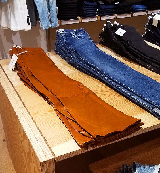 Rust jeans for fall