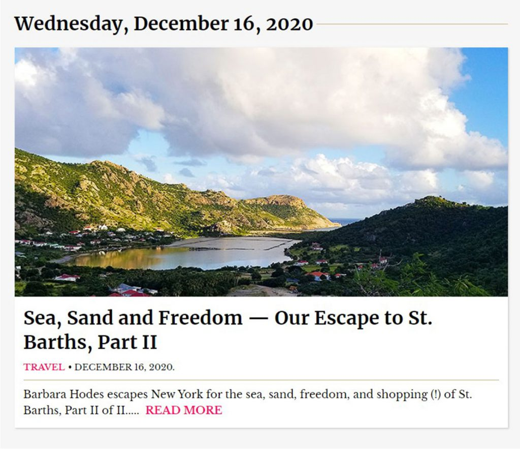 Escape to ST Barth New York Social Diary