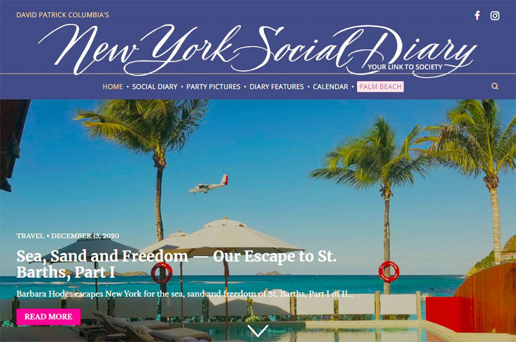 New York Social Diary Column St Barth Part 1