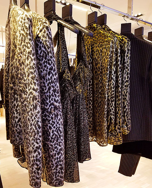 St Laurant metallic animal prints