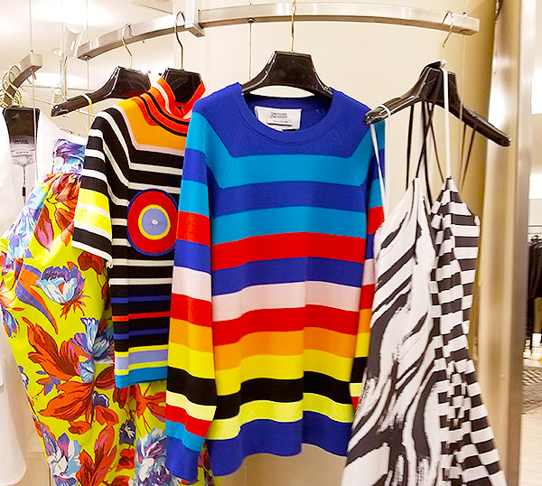 Bright stripe knits for spring