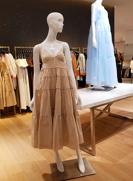 Romantic tan new neutrals dress