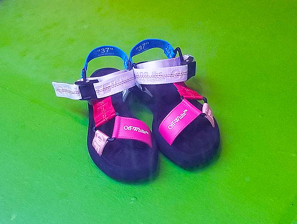 Bright sandals for summers end