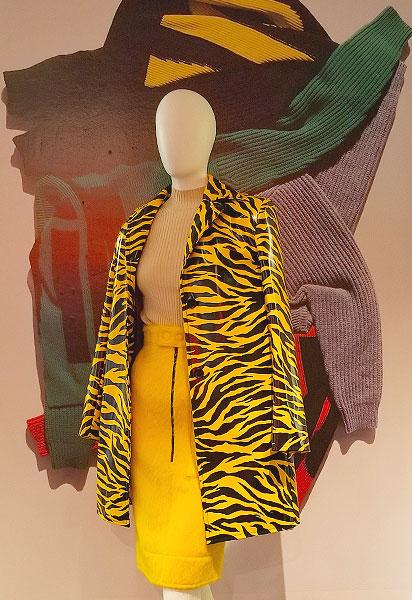 A tiger animal print coat