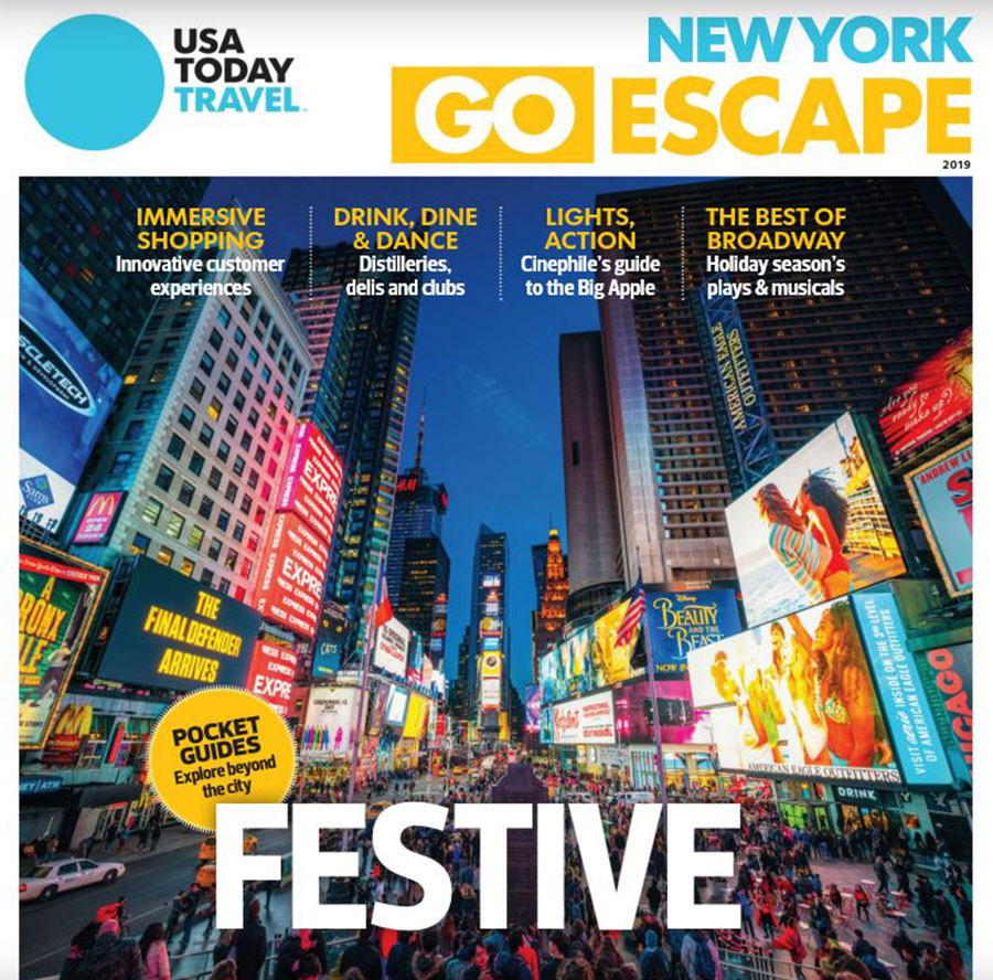 Article about NYC Private Shopping Tour in USA Today Dec 2019