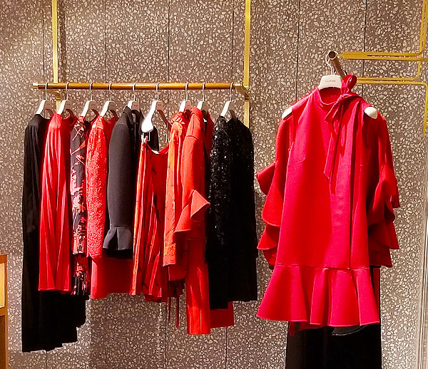 Valentino red will heat up your wardrobe.