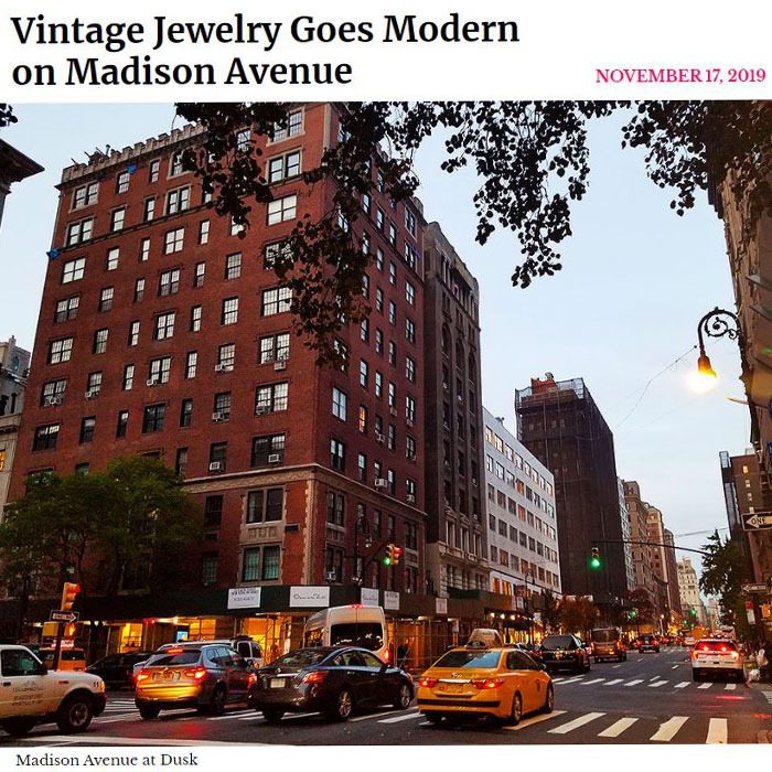 Column for New York Social Diary on Vintage Jewelry on Madison Ave