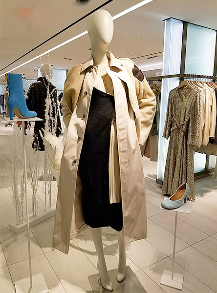 A coat in shades of white