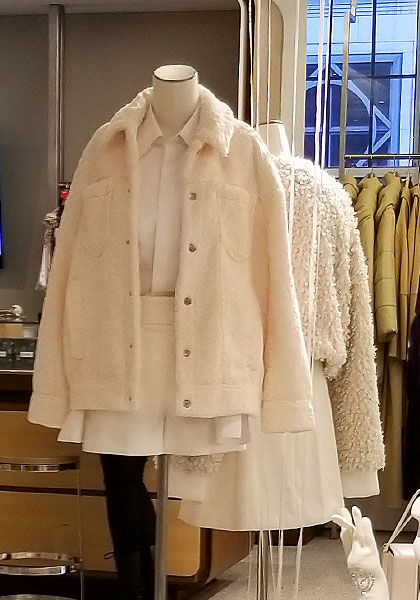 Shades of white for coats