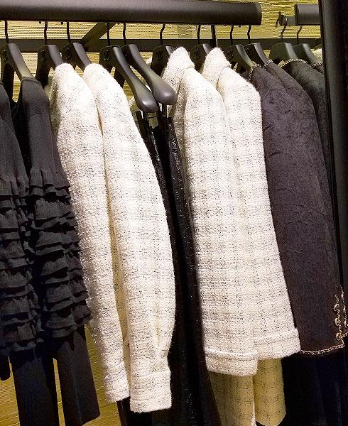 Chanel white tweeds