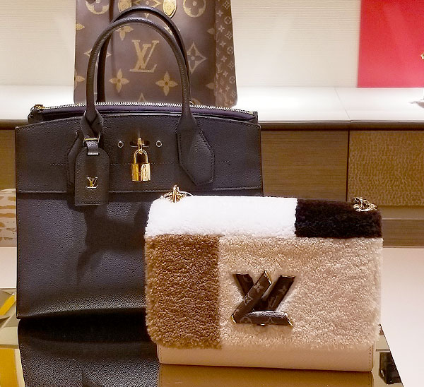 Vuitton bag in shades of white