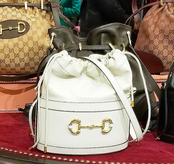 Hot white Gucci Bucket bag