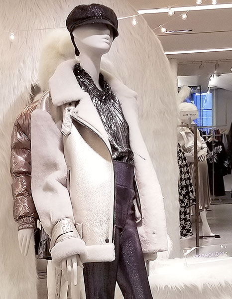 A white motorcycle jacket