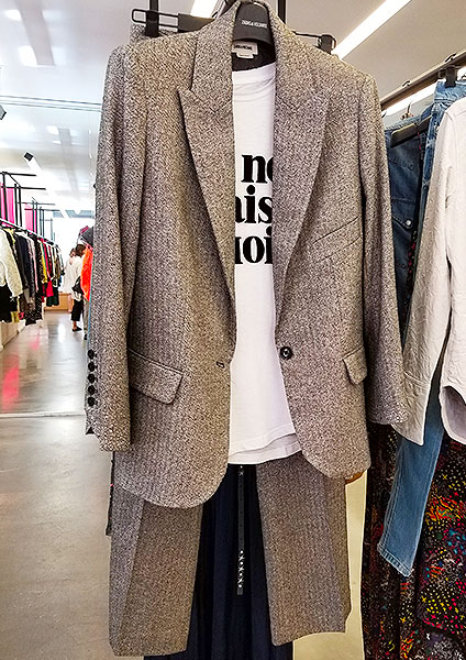 Tweed Jacket with metallic threads