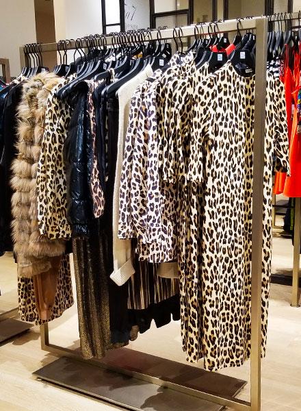 Animal print dresses and tops