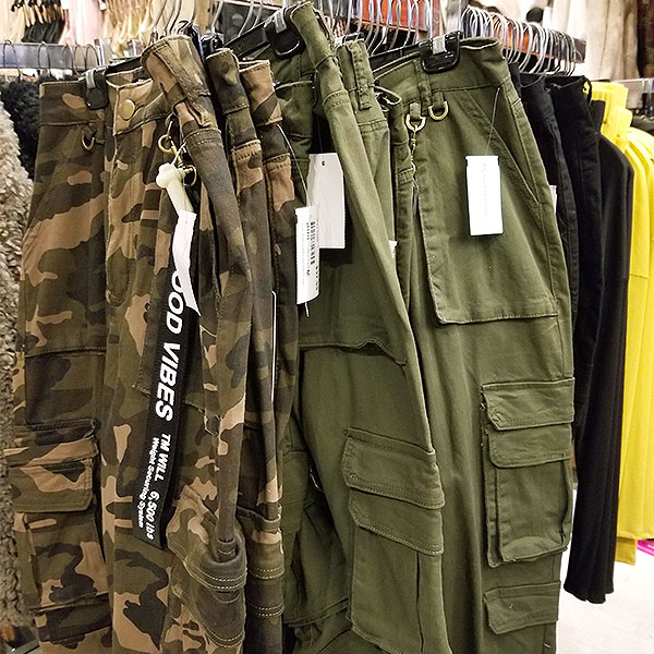 Make military green Camouflage your go to look for fall.